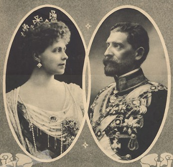 QUEEN MARIA AND KING FERDINAND OF RUMANIA