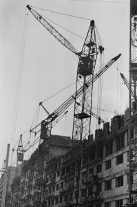 Aspecte de pe santierele muncii socialiste de pe soseaua Pantelimon - 1974