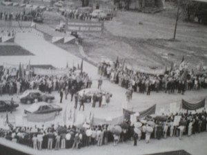 Imagini din timpul lucrarilor la Casa Poporului
