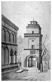 Turnul Coltei inainte de daramarea lui la 1888