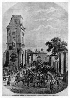 Turnul si Strada Coltei pe la mijlocul sec XIX
