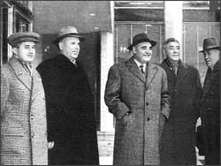 Ceausescu, Chivu Stoica, Gheorghiu Dej, Maurer si Bodnaras